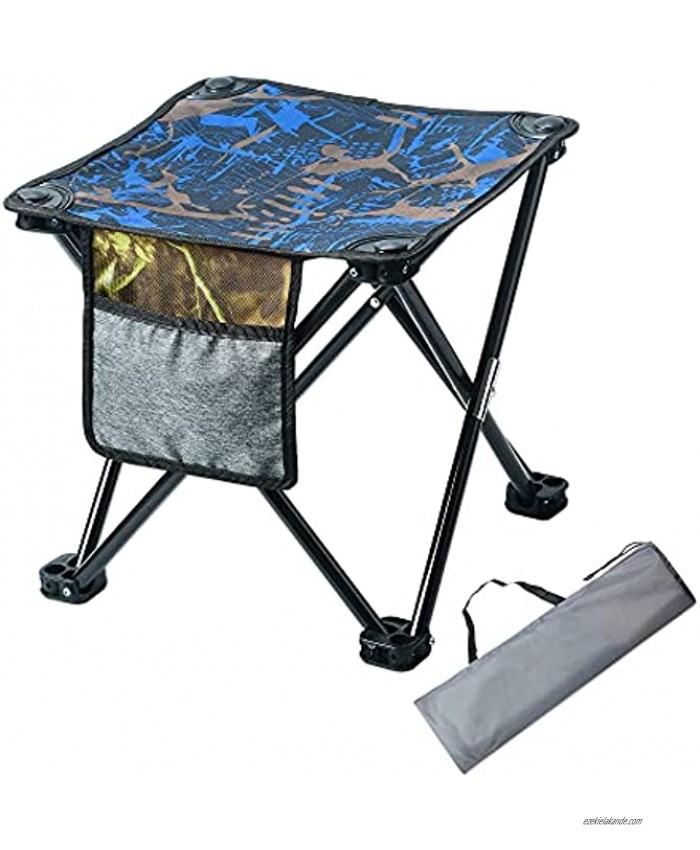 Bufper Camping Stool,Portable Folding Stool,Small Camp Stool,Outdoor Slacker Stool,Collapsible Foot Stool for Fishing,Camping,Travel,Party Gardening Chair Holds Up 300lbs with Storage Bag