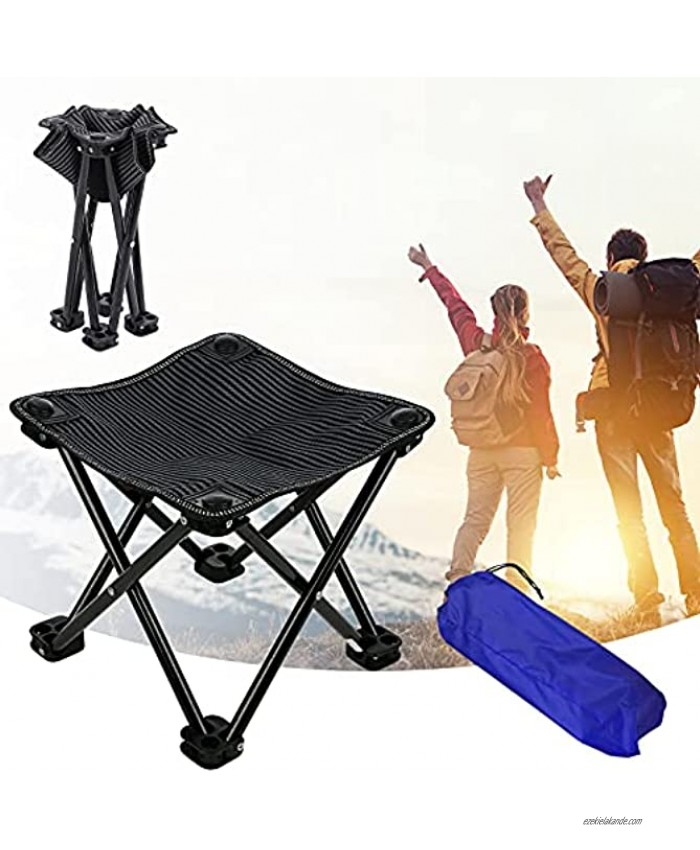 Portable Folding Camping Stool Small Camp Stool Compact Lightweight Fishing Stool with Carry Bag