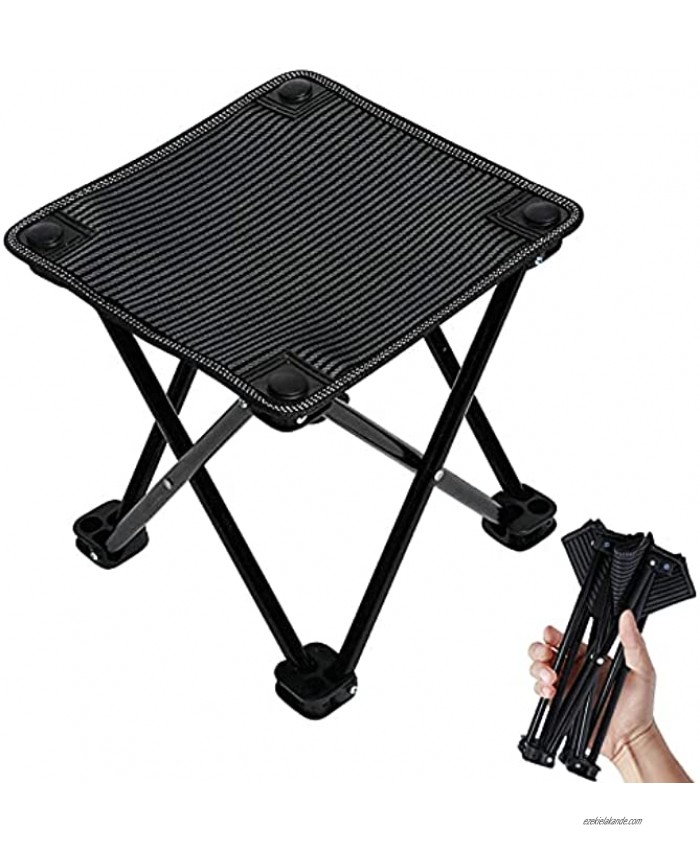 VeMee Small Folding Camping Stool Seat Portable Travel Backpacking Stool Lightweight Portable Hiking Stool with Carry Bag Chair for Camping Fishing Hiking Picnic Gardening Beach Backpacking