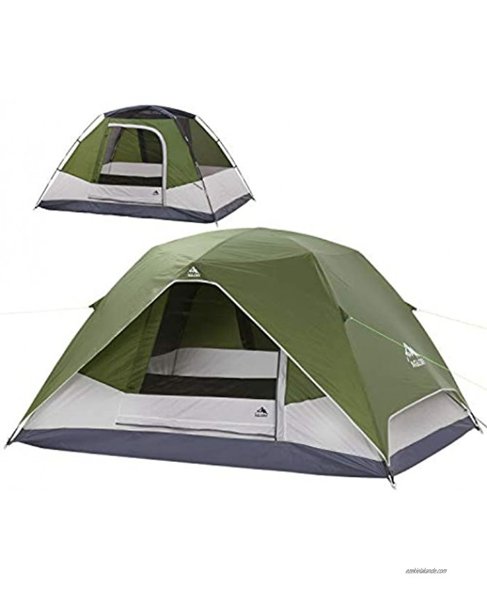 4 Person Dome Camping Tent with Rainfly 9'X7'X55'',Waterproof Easy Up Lightweight Family Tent for Hiking Backpacking Traveling & Outdoor