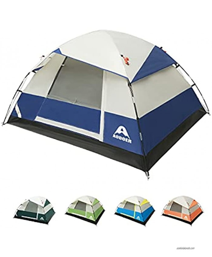 Camping Tent 2 4 Person Family Dome Waterproof Backpack Tents with Top Rainfly Ultralight Easy Set Up Small Tents with Carry Bag for 4 Season Hiking Glamping Beach Outdoor