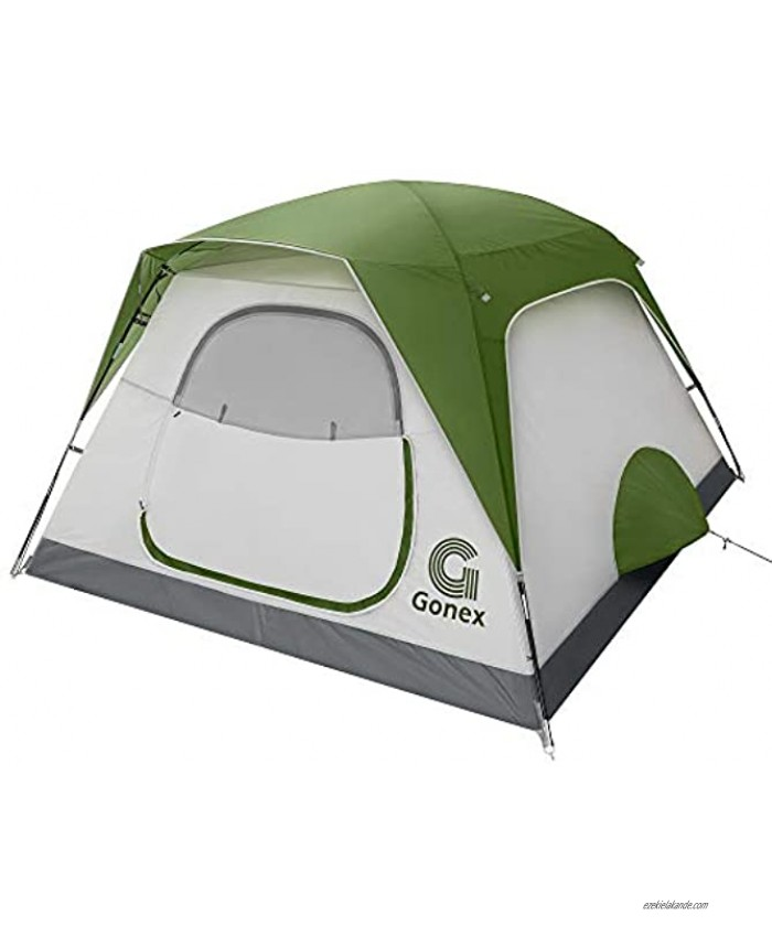 Gonex Camping Tent 4 6 Person Dome Tent with Rainfly Easy Set Up Waterproof Windproof Lightweight Family Tent for Backpacking Hiking Mountaineering and Outdoor