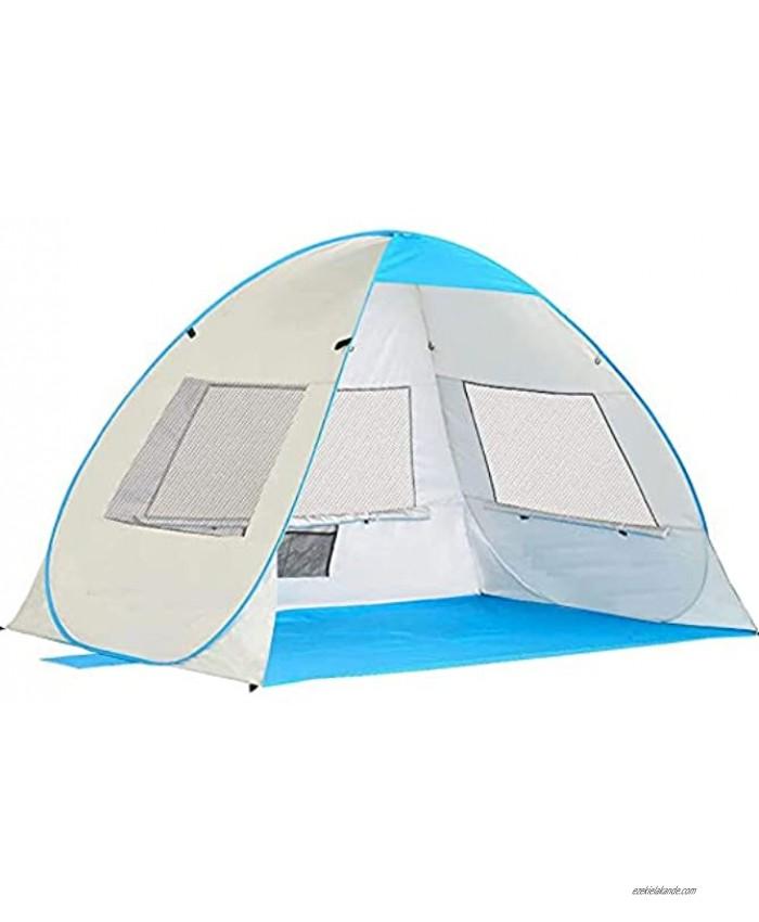 Pop Up Beach Tent Ventilation Portable Sun Shelter Cabana Anti-UV Light-Weight Sunshade for Fishing Hiking Camping