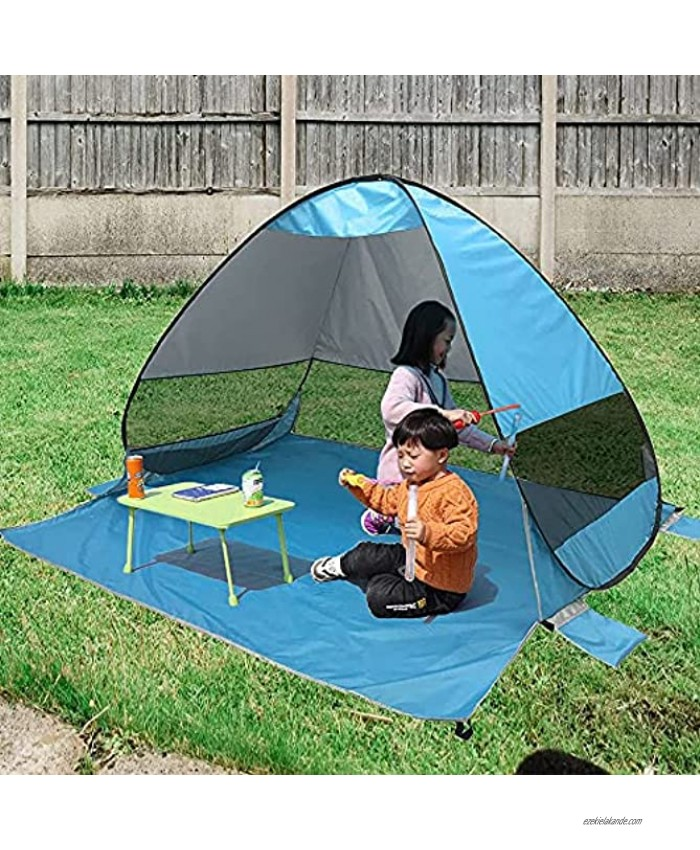 UV50+ Pop Up Beach Tent Ventilating Sun Shade Shelter Family Baby Tent for Picnic Camping Backyard Park Beach Vacation Lightweight and Portable