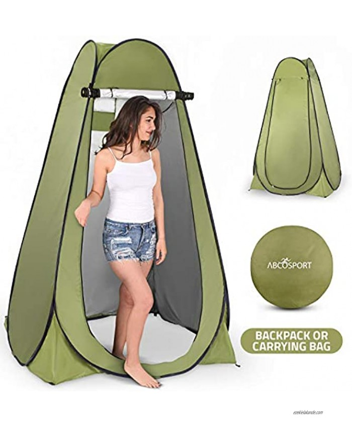 Pop Up Privacy Tent – Instant Portable Outdoor Shower Tent Camp Toilet Changing Room Rain Shelter with Window – for Camping and Beach – Easy Set Up Foldable with Carry Bag – Lightweight and Sturdy