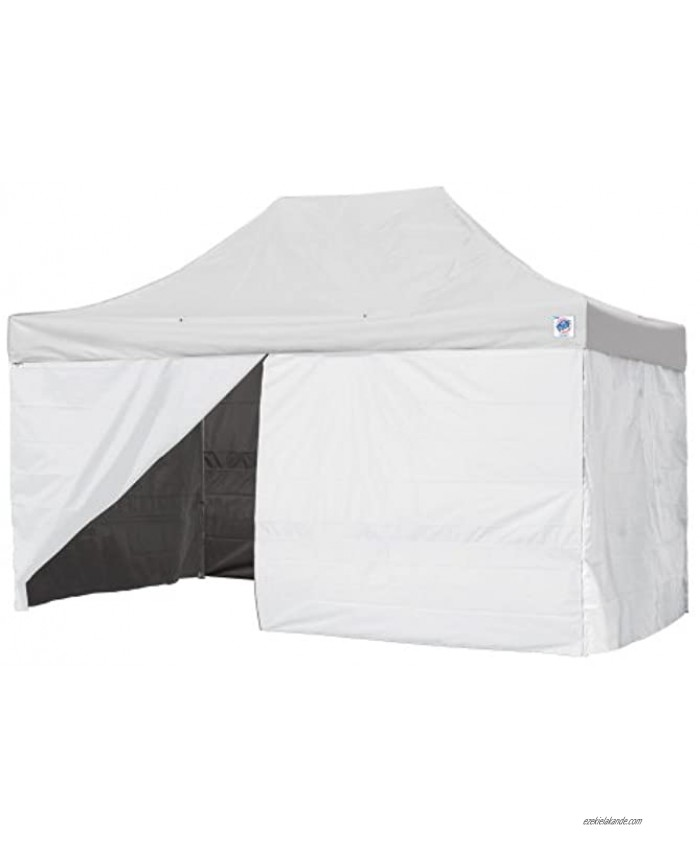E-Z UP Professional Mid-Zip Single Sidewall 15' with Truss Clips White