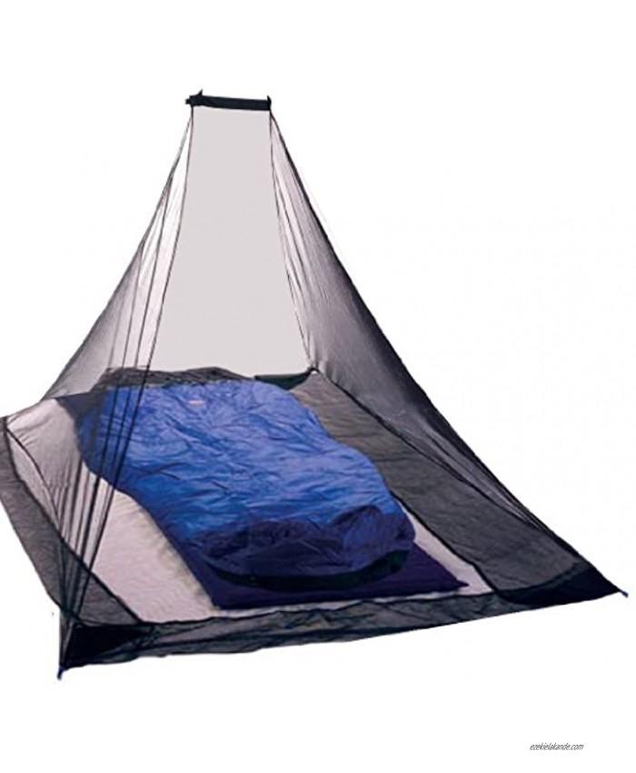 KIKAR Pyramid Single Compact Outdoor Mosquito Net Black