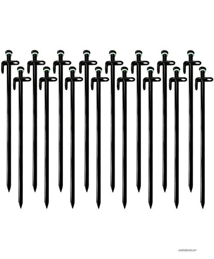 Linwnil Tent Stakes Heavy Duty 12-inches Tent Stakes Forged Steel Unbent Tent Pegs-Ideal Camping Stakes for Rocky Hard Places