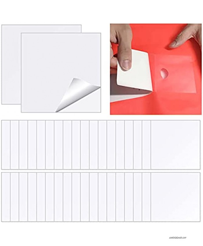 30 Pieces TPU Inflatable Patch Repair Kit Self Adhesive Vinyl Repair Patch Square Plastic Patch 7 x 7 cm for Inflatable Boats Camping Tent Swimming Pools Products
