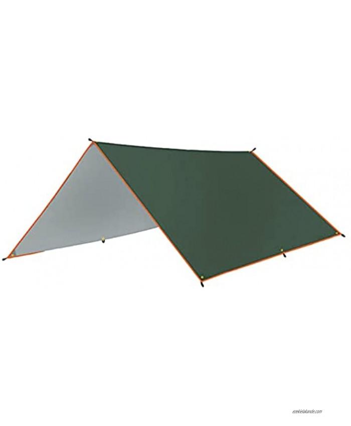 GEZICHTA 3x3m Awning Waterproo f Camping Tarp,Tent Tarp,Picnic Mat Camping Tarp Tent Hammock Tarp Multifunctional Tarp Tent Footprint for Camping,Lightweight Emergency Shelter Tarp