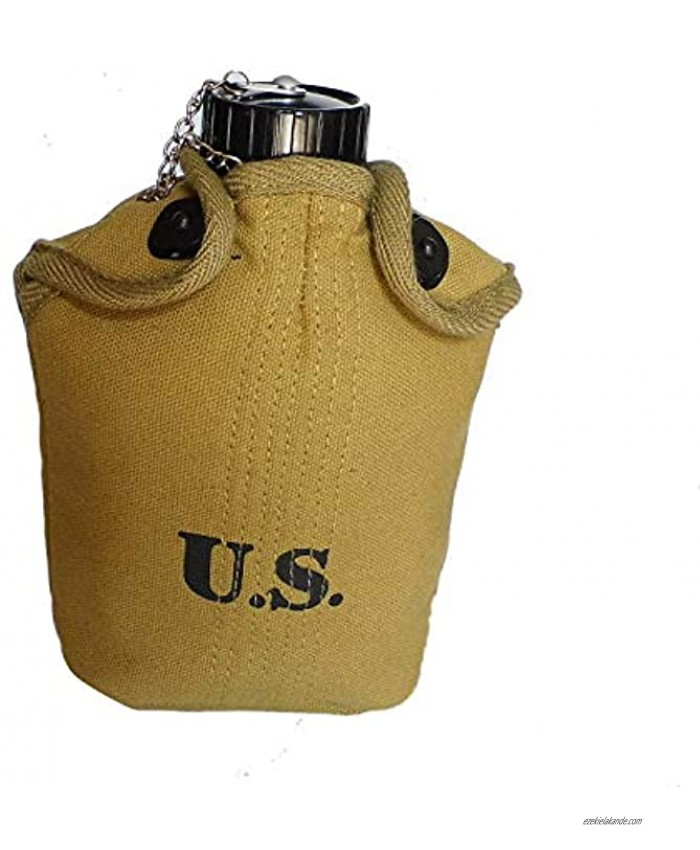 Reproduction WW2 US 1.0L Canteen with Cup Cover Set 3 in 1