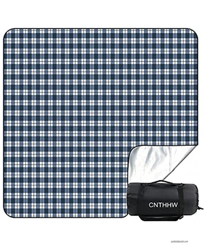CNTHHW Large Picnic Blanket 79x79 with 3 Layers Material,Waterproof Foldable Picnic Outdoor Blanket Picnic Mat for Camping Beach Park,Oversized Soft Fleece Material Camping Tote Mat