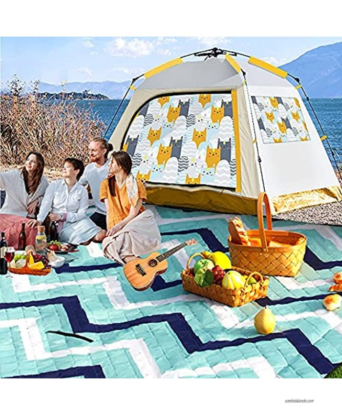 Outdoor Sandproof Waterproof Picnic Blanket Extra Large 80 x 80 Foldable Machine Washable Mat for Indoor Crawling Blanket Park Travel Camping Beach Blanket