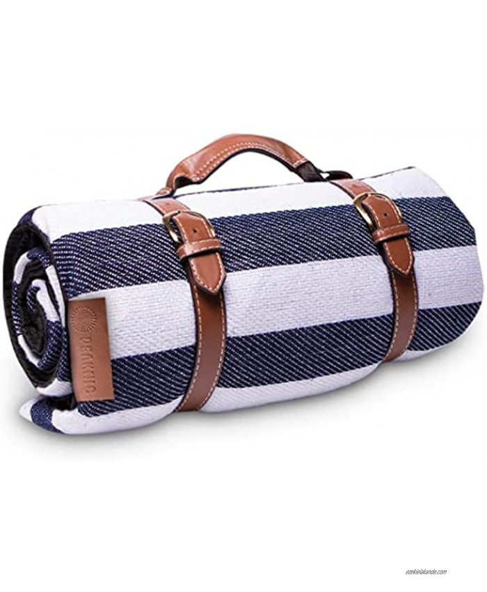 Peaknic Extra Large Picnic Blanket Waterproof Foldable Outdoor Mat Perfect for Beach Camping & Festivals Resistant & Portable Accessory Comfortable with Triple Layer and Carry Strap