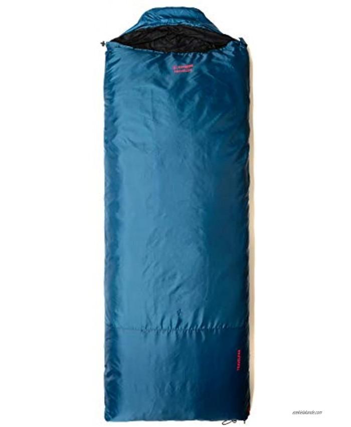 Snugpak Travelpak Traveler Sleeping Bag with Mosquito Net Lightweight Left Hand Zip Petrol Blue