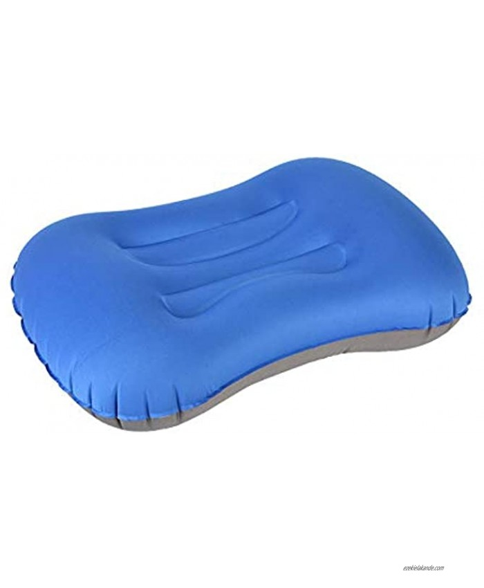 Inflating Travel Camping Pillows  Vsanstar Compressible Compact Inflatable Comfortable Ergonomic Pillow for Neck & Lumbar Support While Camp Hike Backpacking Blue Color
