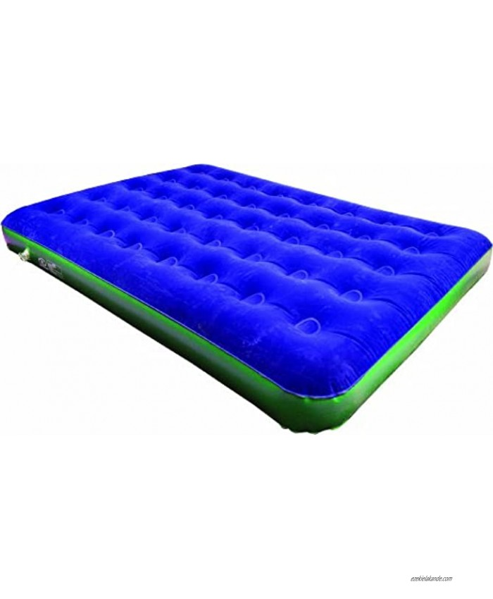 Highlander Sleepeze Airbed Blue Green Double Size