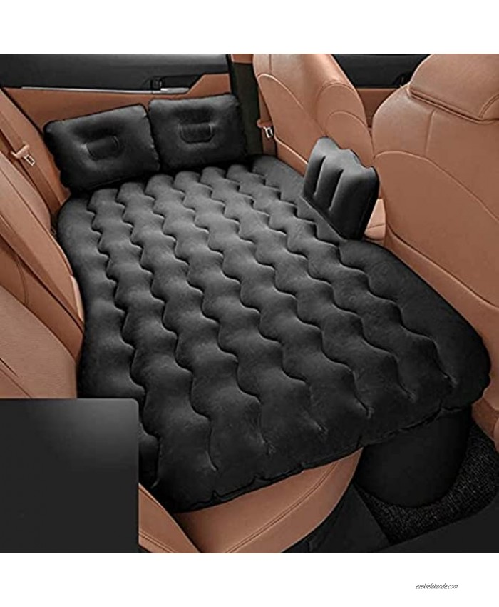TOPHORT Inflatable Car Air Mattress Inflatable Bed for Car Travel Bed Truck Air Mattress for Car Sleeping Fits Most Car Models for Camping Travel Hiking Trip and Other Outdoor Activities Black