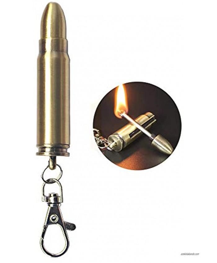 Permanent Metal Match Lighter Forever Keychain Lighter Waterproof Match EDC Emergency Matchstick Survival Flint Fire Starter Fuel Not Included