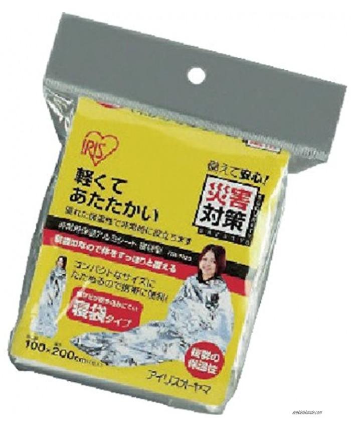 Iris emergency thermal insulation aluminum sheet sleeping bag type JTH-1020 japan import