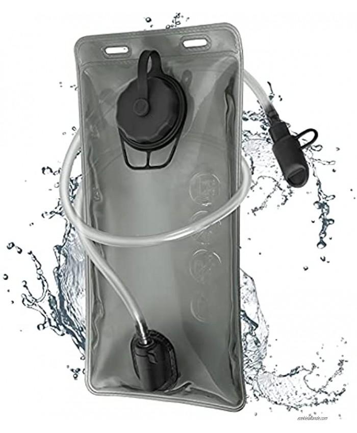Jessfar Hydration Bladder 2 Liter for Backpack PEVA Water Reservoir BPA Free Leak-Proof 2L 70oz Military Water Storage Bladder Bag for Camping Running Hiking Riding